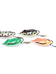 Leurre souple / leurres de pêche Leurre souple / Grenouille pcs g Once mm pouce Vert / Orange / Blanc Plastique souplePêche en mer /