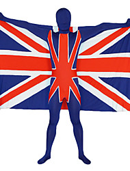 The Union Jack Pattern Lycra Zentai with Flag