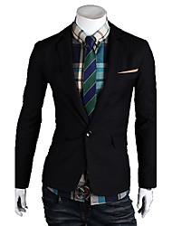 Men's Contrast Tailor Collar Basic Blazer