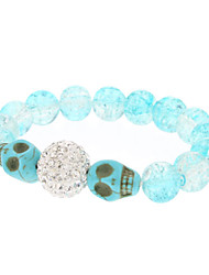 Boor Ball Turquoise Crystal armband (blauw)