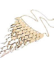 Damenmode Short Leaves Tassel Necklace
