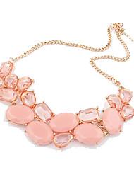 Sencillo Mujeres multi-Shape Stones Resina Collar Corto