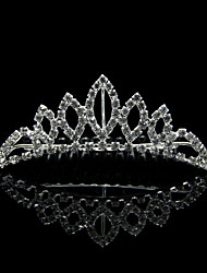 Women's / Flower Girl's Alloy Headpiece-Wedding Tiaras Clear Square Cut