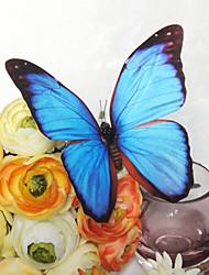 decorazioni wedding bella luce blu di plastica farfalla (set di 6)