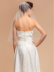 Wedding Veils One-tier Elbow Veils With Pencil Edge