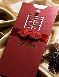 Traditional Designed Wedding Invitation With Bow - Set of 50 (More Colors)