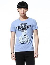 TONLION Round Neck Image Print T shirt