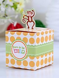 Favores y regalos de la fiesta Cajas de regalos Papel de tarjeta Baby Shower Cúbico Sin personalizar Papel de tarjeta