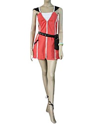 Inspired by Kingdom Hearts Kairi Video Game Cosplay Costumes Cosplay Suits / Dresses Patchwork Red Sleeveless Dress / Waist Accessory