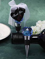 Crystal Chrome Bottle Favor Bottle Stoppers Classic Theme Blue/Gold