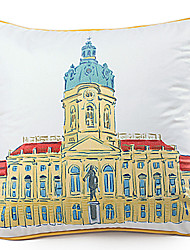 Velvet Pillow Cover , Cities Modern/Contemporary