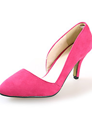 Damenschuhe - High Heels - Kleid / Büro - Wildleder - Stöckelabsatz - Absätze - Schwarz / Blau