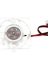 Blanco Chasis de plástico PC ventilador de refrigeración (4 cm) ECS003243