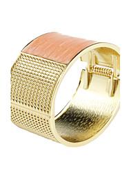 Mode Oblong poux Metal bracelet des femmes