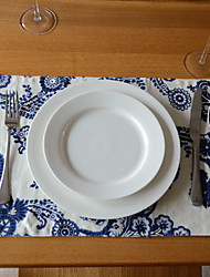 Juego de 4 Placemat Floral Pattern Ropa