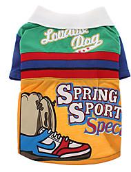 Ofertas Sport Primavera Shirt Patrón para perros (colores surtidos, XS-XL)