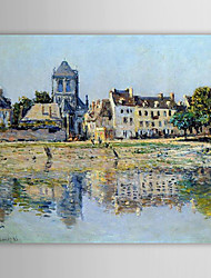 Famous Oil Painting by the River at Vernon by Claude Monet