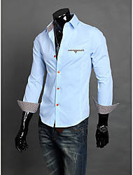 Homens Fina Trabalho camisa longa da luva