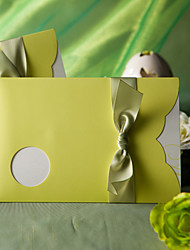 """""""Spring Green"""" Wedding Invitation With Round Cutout (Set of 50)"""