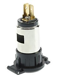 20624 Résistance à l'eau Cigarette Lighter Socket bricolage pour Moto / Véhicule - noir (DC 12V)