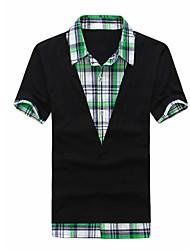 Mannen controleren Shirt T-Shirt Kraag