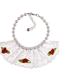 Lace Scarf perle Pet Necklace