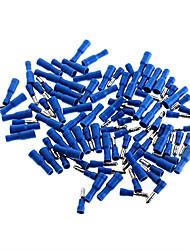Duplas de bala estilo Conectores Conjunto Masculino e Feminino de terminais - Azul (50 Pair-Pack)