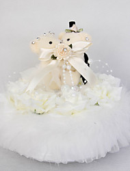 Wedding Ring Pillow With Cute Bear And Music Box