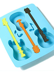 Cool Guitar Shaped Silicone Ice Tray Mold