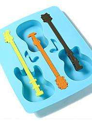 frais guitare moule en forme de plateau de glace de silicone