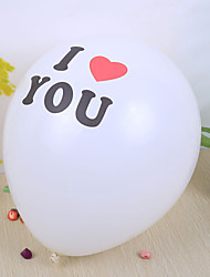 "Wedding Décor ""I Love You"" Round Ballon (set of 50)"