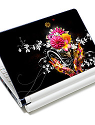 """Flowers"" Pattern Laptop  Protective Skin Sticker For 10""/15"" Laptop 18373(15"" suitable for below 15"")"
