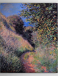 Famous Oil Painting A Path at Pourville by Claude Monet