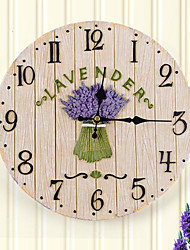 Лаванда тему Polyresin настенные часы