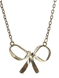 Simples metal bowknot Colar