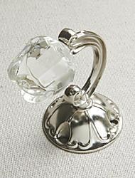Crystal Rose Antique Retenues finition argentée (une paire)