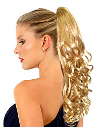 Top Grade Quality Synthetic Golden Blonde Long Wavy Ponytail