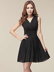Done Meto High waist Sleevless Chiffon Dress