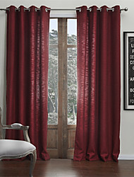 (One Panel) Classic Faux Linen Solid Eco-friendly Curtain