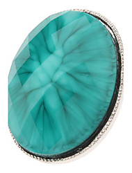 Blue Peacock Metal Ring