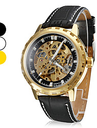 Men's Water Resistant Style Analog PU Mechanical Wrist Watch (Assorted Colors) Cool Watch Unique Watch