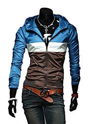 Men's Long Sleeve Jacket Casual Striped