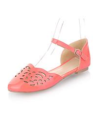 Couros Heel plana fechada toe sandálias partido / sapatas da noite (mais cores)
