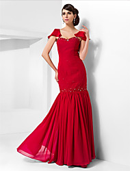 Formal Evening / Prom / Military Ball Dress - Ruby Plus Sizes / Petite Trumpet/Mermaid Sweetheart Floor-length Chiffon