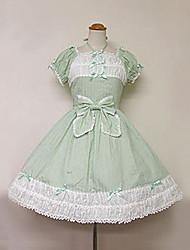 À manches courtes mi-longueur Green Light Cotton Robe Sweet Lolita