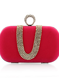 Women Velvet Event/Party Evening Bag Blue / Red / Black / Fuchsia
