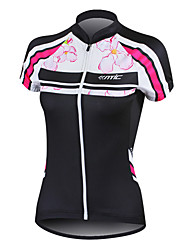 SANTIC Cycling Jersey Women's Short Sleeve Bike Jersey TopsQuick Dry Anatomic Design Ultraviolet Resistant Front Zipper Wearable