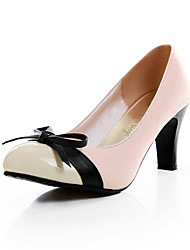 Fashion Leatherette Chunky Heel Pumps With Bowknot Party / Evening Shoes(More Colors)