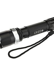 Uniquefire UF-P2 recarregável 3-Mode Cree XP-E R2 Zoom lanterna LED (240LM, 1x18650, Black)