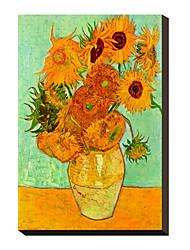 Girassóis, c.1889 por Vincent Van Gogh famosa tela esticada